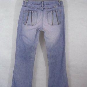Purple Pastel Jeans Boot Cut Distressed Size 2